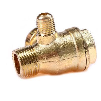 Compresor de aire 3Port latón macho roscado válvula de retención conector KY 5