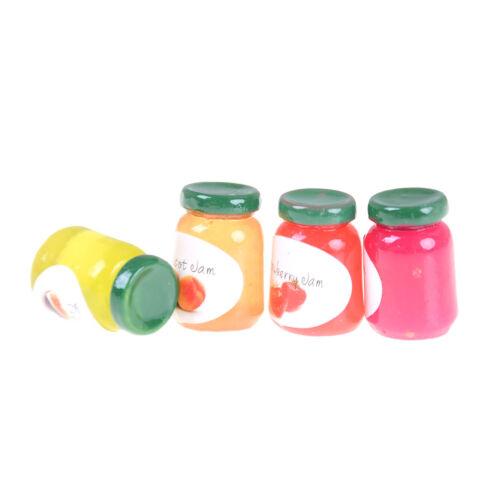 Dollhouse Miniatures 1:12 Accessories Jams Miniature Kitchen 4 Bottles Jams PLF