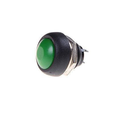10X Bunte 12mm Wasserdicht momentary EIN / AUS Taster Mini Rundenschalter DBSD 2