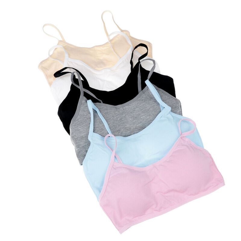 Teen girls underwear soft padded cotton bra young girls for yoga sports bra E&F 7