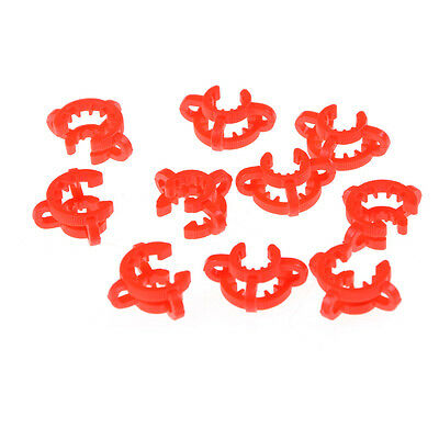 10PCS Plastic Lab Clamp Clip Keck For Glass Ground Joint Multiple Size BLTS 4