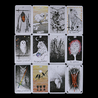 78Pcs The Wild Unknown Tarot Deck Rider-Waite Oracle Set Fortune Telling Card WL 2
