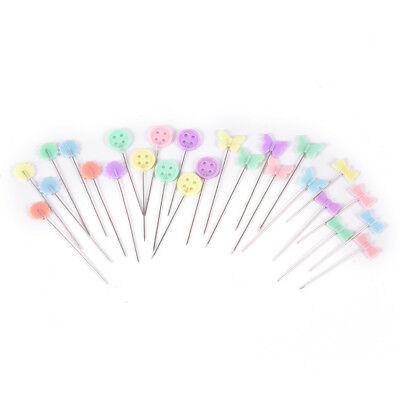 50 mosaico X pernos de alfileres de cabeza de botón flor acolcha DIY_S
