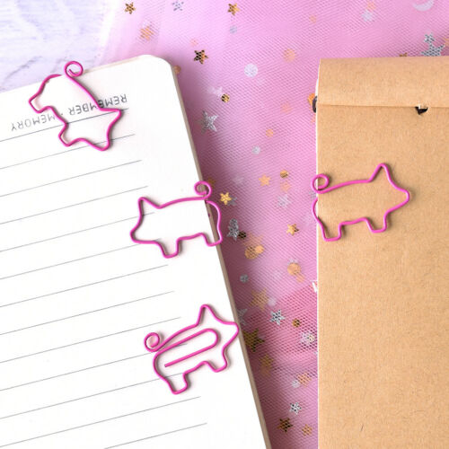 4X Pig Pink Bookmark Paper Clip School Office Supply Escolar Gift Stationery LE 5