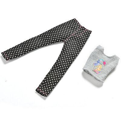"""1 Set Fashion Gray Vest Black Pants for 11"""" s Dolls ÖÖ 6"""