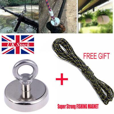 Strong Pull Fishing Treasure Hunting Neodymium Recovery Magnet Hook+30Metre Rope 2