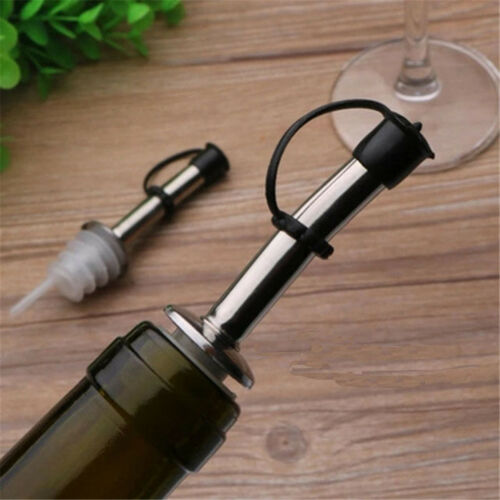 Öl Flaschenausgießer Mund Stopper Kork Plug Weinausgießer Dispenser BCDE
