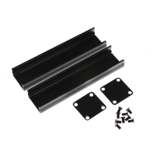 100*25*25mm Extruded PCB Aluminum Box Black Enclosure Electronic Project Cas Xj 4