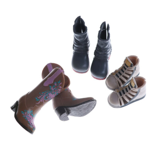1Pair Fashion High Heels Boots Shoes For Doll Accessories Kids Toys ÖÖ 3