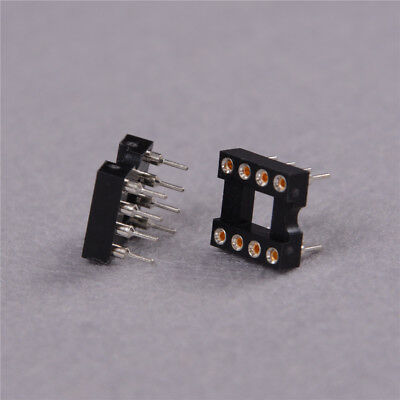 10pcs Round Hole 8pin Pitch 2.54mm DIP IC Sockets Adaptor Fad GS 6