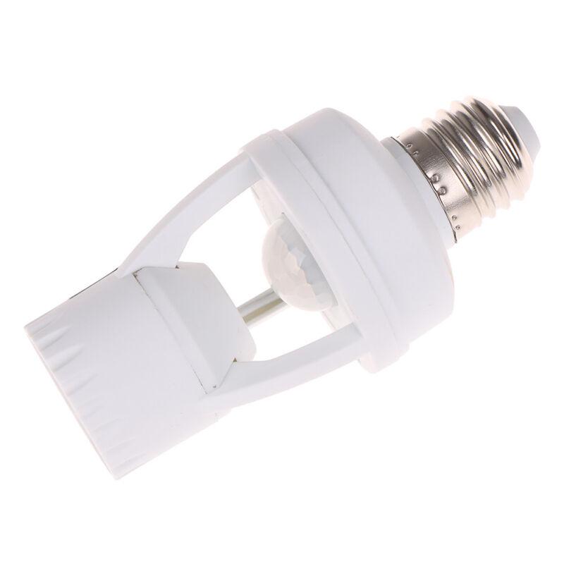 Infrared PIR Motion Sensor E27 LED Light Lamp Bulb Holder.Socket Switch BC 3