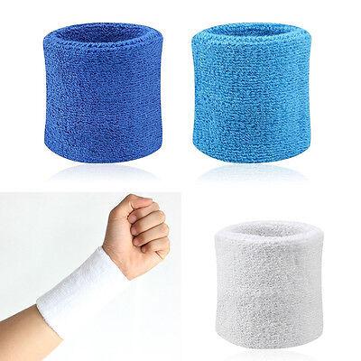 2x Sport Schweißbänder Wristband Tennis Badminton Gym Wrist Bands RW