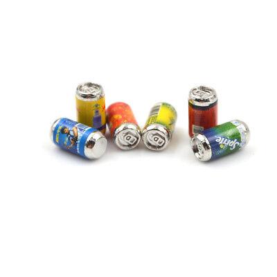 6PCS Mini 1/6 Scale Dollhouse Miniature Coke Drinks Model Pretend Play Doll T HF 4