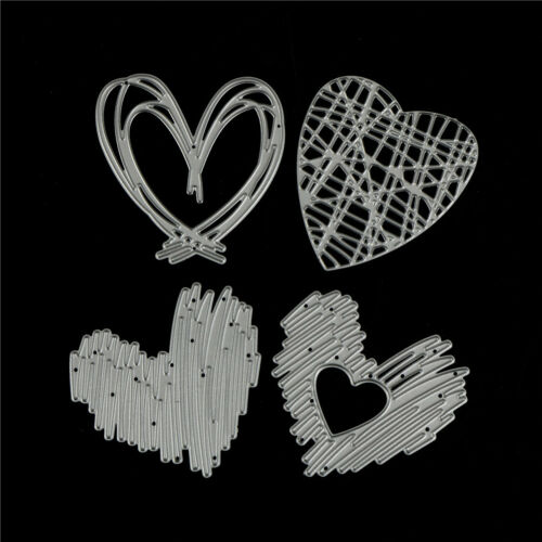 4Pcs Love Stripe Design Metal Cutting Dies For DIY Scrapbooking Album Paper TE 4