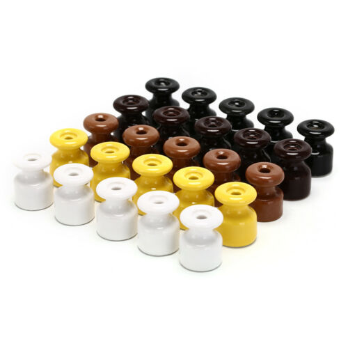5Pcs/lot Porcelain Insulator for Wall Wiring Ceramic Insulators FO 2