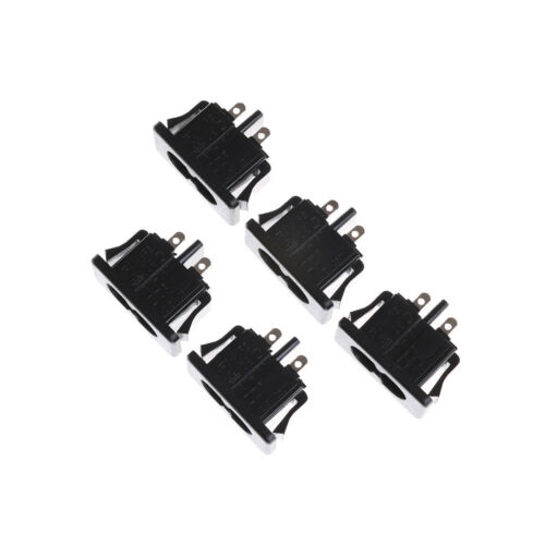 5Pcs AC250V 2.5A IEC320 C8 Male 2 Pins Power Inlet Socket Panel Embedded In UK 4