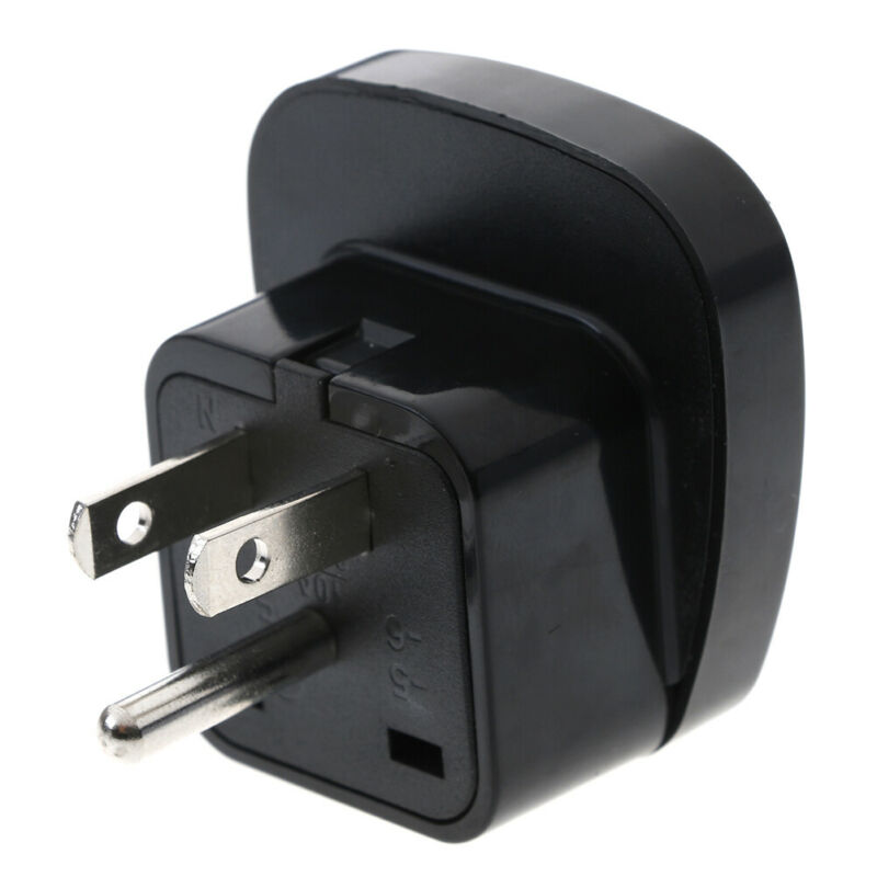 EU//UK//AU Universal Adapter to USA CANADA AC Power Plug 3 Pin Travel Converter FF