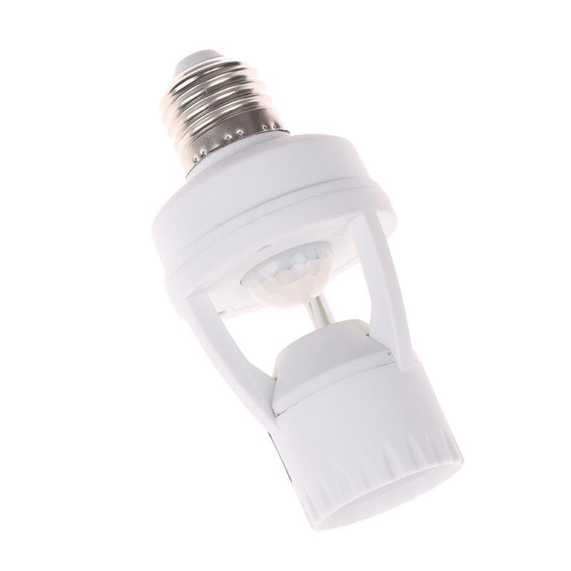 Infrared PIR Motion Sensor E27 LED Light Lamp Bulb Holder.Socket Switch BC 2