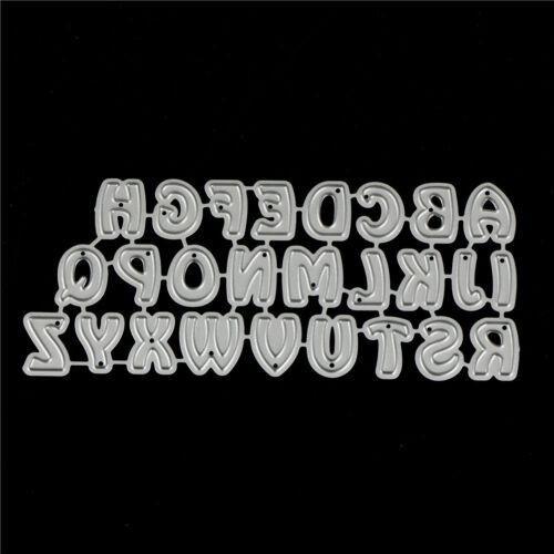 26Pcs Capital Letters Metal Cutting Dies For DIY Scrapbooking Album Paper Car KY 3