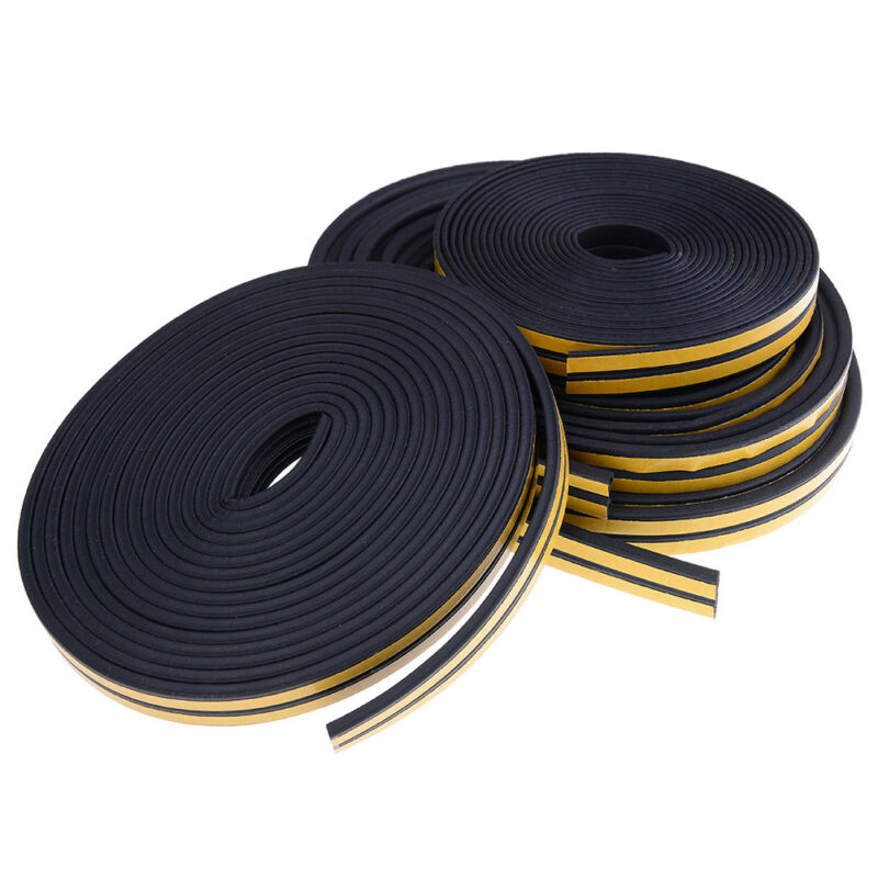10M Draught Excluder Self Adhesive Rubber Door Window Seal Strip Roll Foam JC