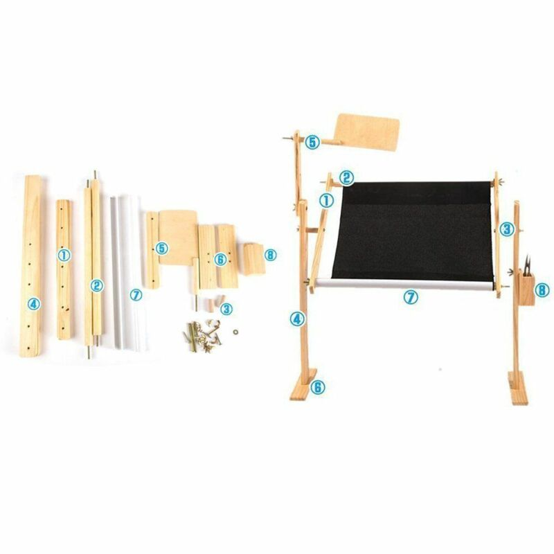 Adjustable Solid Wood Cross Stitch Rack Needlework Stand Wood Stitch Lap Table