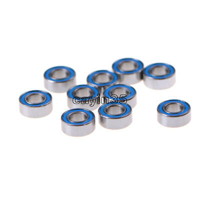 10PCS NEW Miniature ball Bearings with blue Plastic cover 5*10*4mm MR105-2RS UK 3