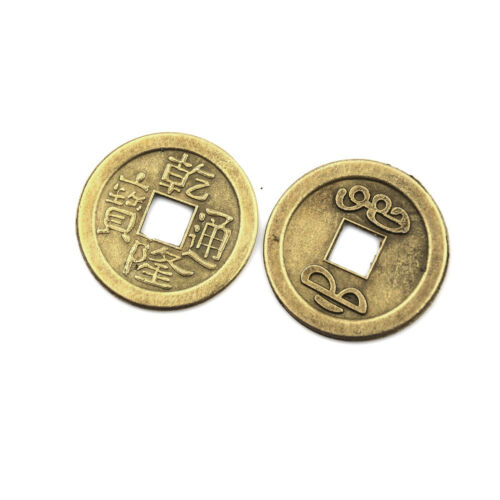 20pcs Feng Shui Coins 2.3cm Lucky Chinese Fortune Coin I Ching Money Alloy WD 5