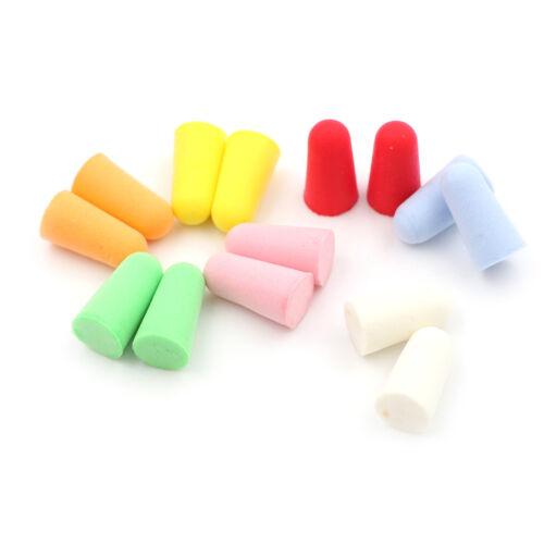 3 of 6 20pcs PU Foam Ear Plugs Anti Noise Snore Earplugs Comfortable For Study Sleep hX