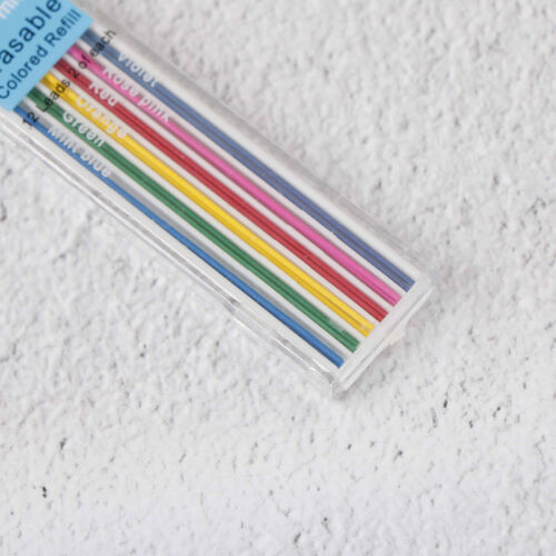 3Boxes 0.7mm Colored Mechanical Pencil Refill Leads Erasable Student StationaryM