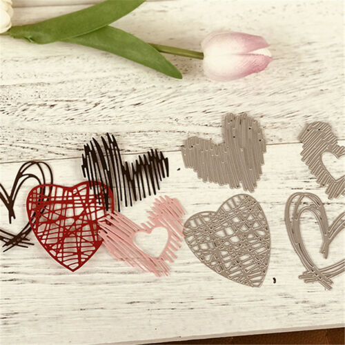 4Pcs Love Stripe Design Metal Cutting Dies For DIY Scrapbooking Album Paper TE 2