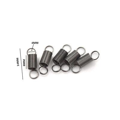 10PCS 15mm petit ressort de traction en acier inoxydable avec crochet pour KOL9H