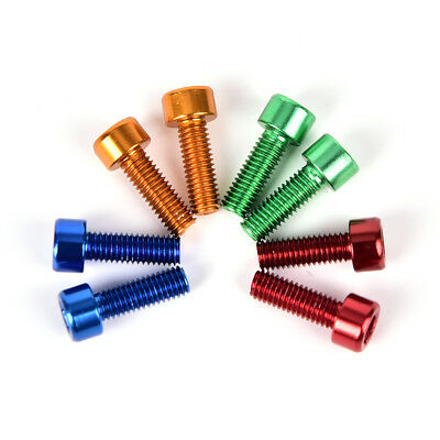 4X Bike Water Bottle Cage Bolts M5*15MM Aluminium Alloy Hex Tapping Screws