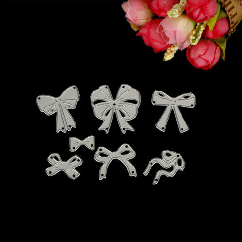 7pcs bow cutting dies stencil scrapbook album paper embossing craft DIY!# 6