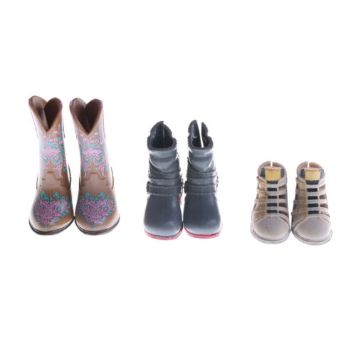 1Pair Fashion High Heels Boots Shoes For Doll Accessories Kids Toys ÖÖ 2