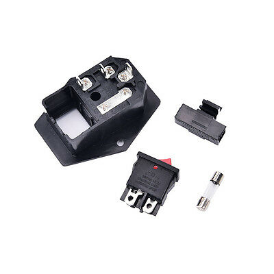 3Pin iec320 c14 inlet module plug fuse switch male power socket 10A 250V_Lq 3
