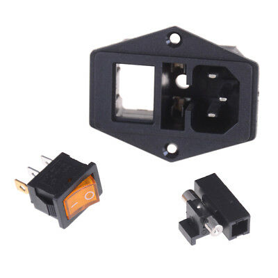 10A 250V Inlet Module Plug Fuse Switch Male Power Socket 3 Pin IEC320 C14sFH UWU 4