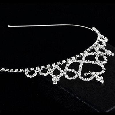 Prinzessin Hairband Kind Party Braut Krone Stirnband Kristall Diamant Tiara