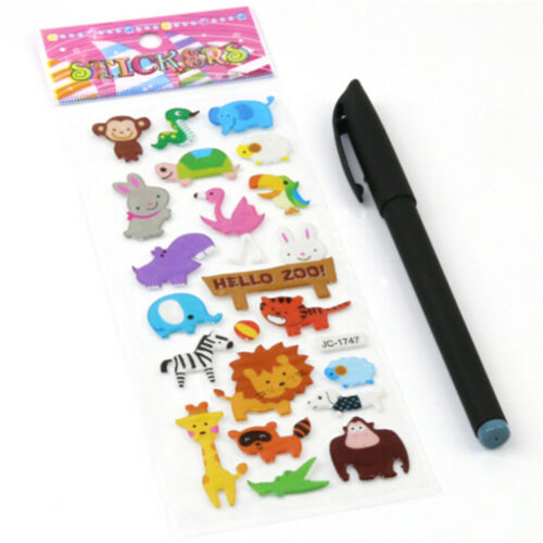 5sheets 3D Bubble Sticker Toys Children Kids Animal Classic Stickers Gift YEG 5