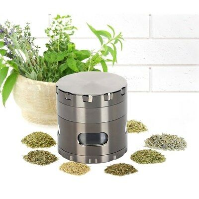 Zinc Alloy 4-layer Aluminum Herbal Herb Tobacco Grinder Smoke Grinders GUN BLACK