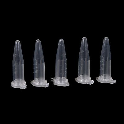 0.5ml Lab Clear Micro Plastic Test Tube Centrifuge Vial Snap Cap Container 50XG* 3