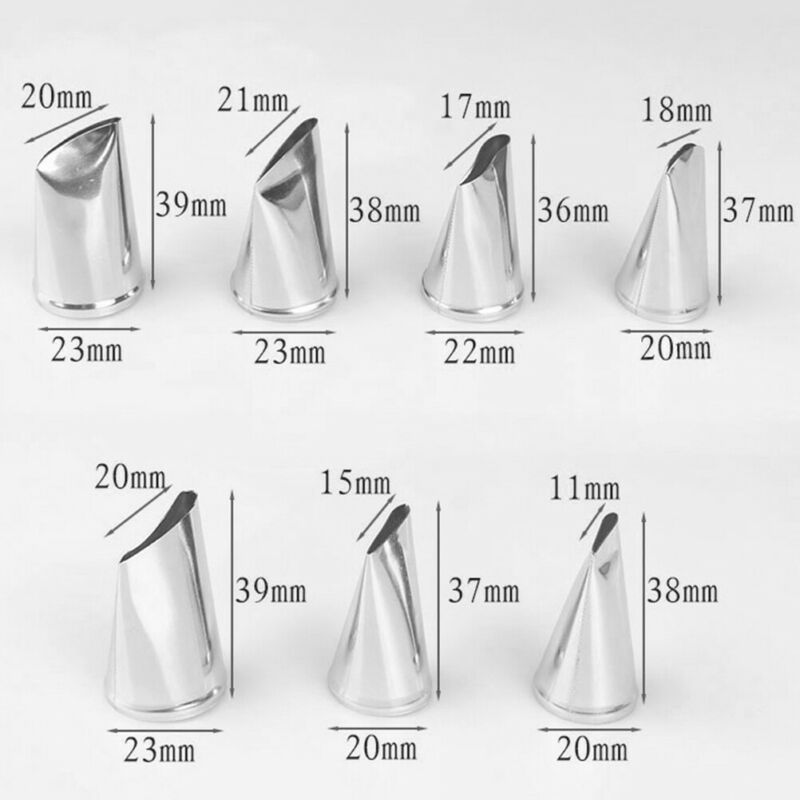 7pcs/set Cake Decorating Tips Cream Icing Piping Rose Tulip Nozzle Pastry Too hc 4