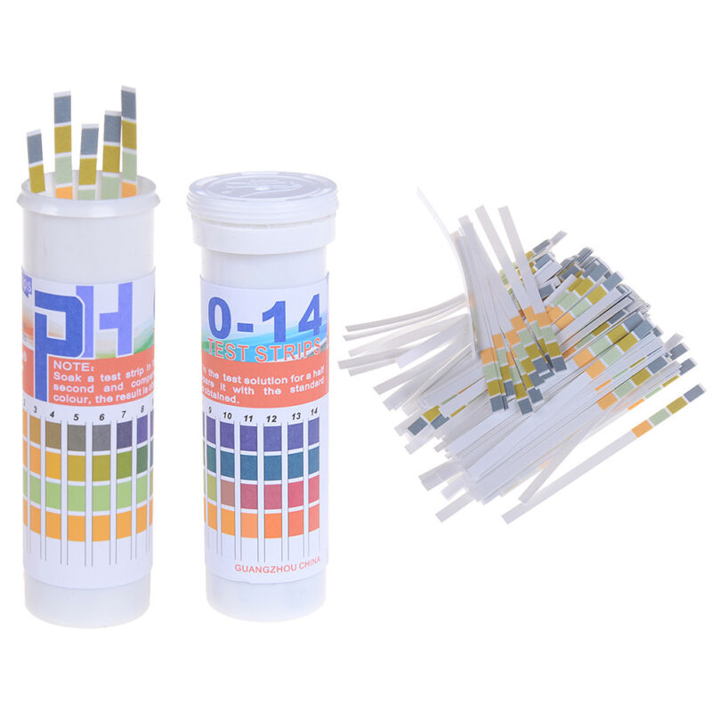 150 Strips bottled PH test strip 0-14 ph acidic alkaline indicator urine sal CH 2