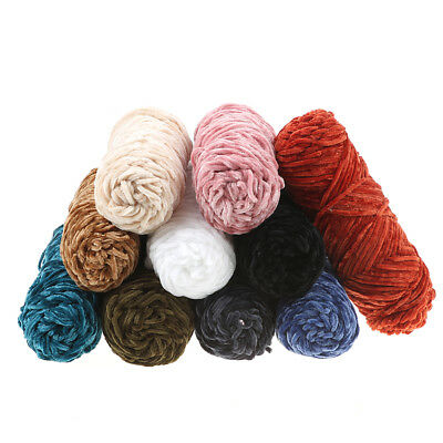 100g Velvet yarn Soft protein Cashmere silk wool Yarn crochet handmade knitti qr 3