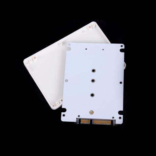 """M.2 NGFF Sata3 SSD to 2.5"""" SATA Adapter Card Hard Disk Case Enclosure WhiteRKES 5"""