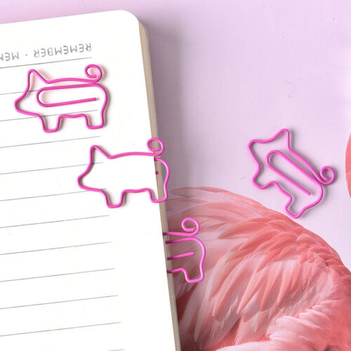 4X Pig Pink Bookmark Paper Clip School Office Supply Escolar Gift Stationery LE 4