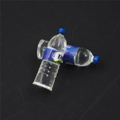 2pcs Bottle Water Drinking Miniature DollHouse 1:12 Toys Accessory Collection &T 2