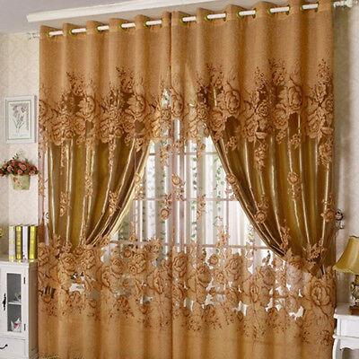 Pivoine Modele Voile Rideaux Salon De La Fenetre Rideau De Tulle Sh Chnn Eur 9 72 Picclick Fr