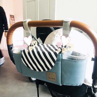 1X Universal Baby Trolley Storage Bag Stroller Cup Carriage Pram Buggy Organizer 2