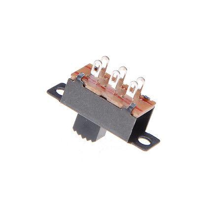 10X 2 Position DPDT 2P2T Schalttafeleinbau Schiebeschalter 6 Pin 0,5A 50 V DC—HQ 6