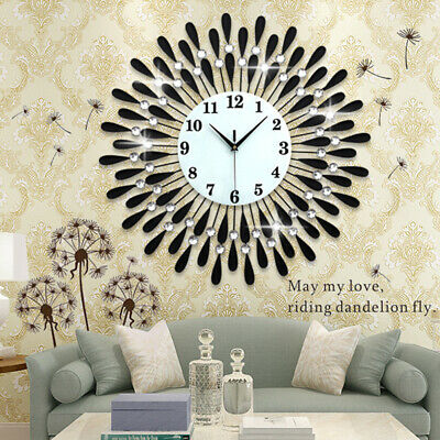 60Cm Extra Large Metal Diamond Wall Clock Big Giant Open Face Round Hangings Diy 4